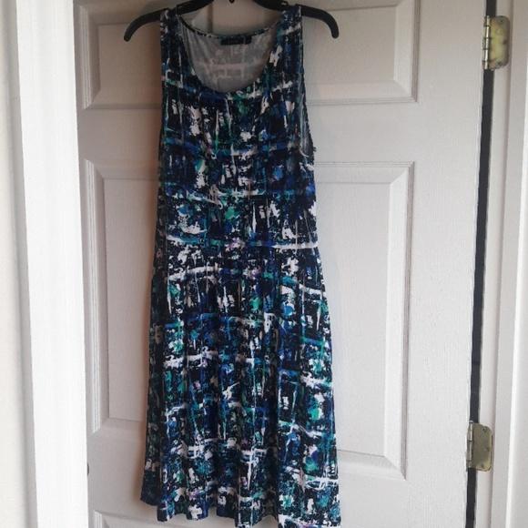 Apartment 9 sleeveless printed pocket dress